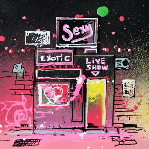 Exotic - club de strip-tease au graffiti - art urbain