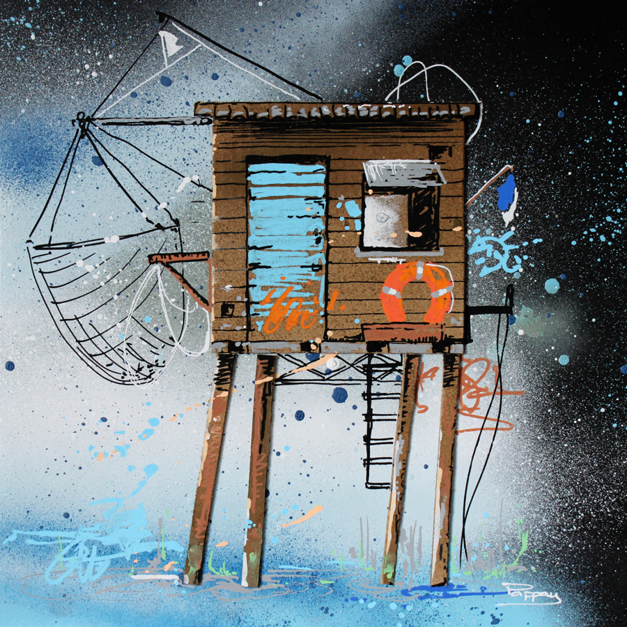 Pilotis - cabanes de pêcheurs, graffiti