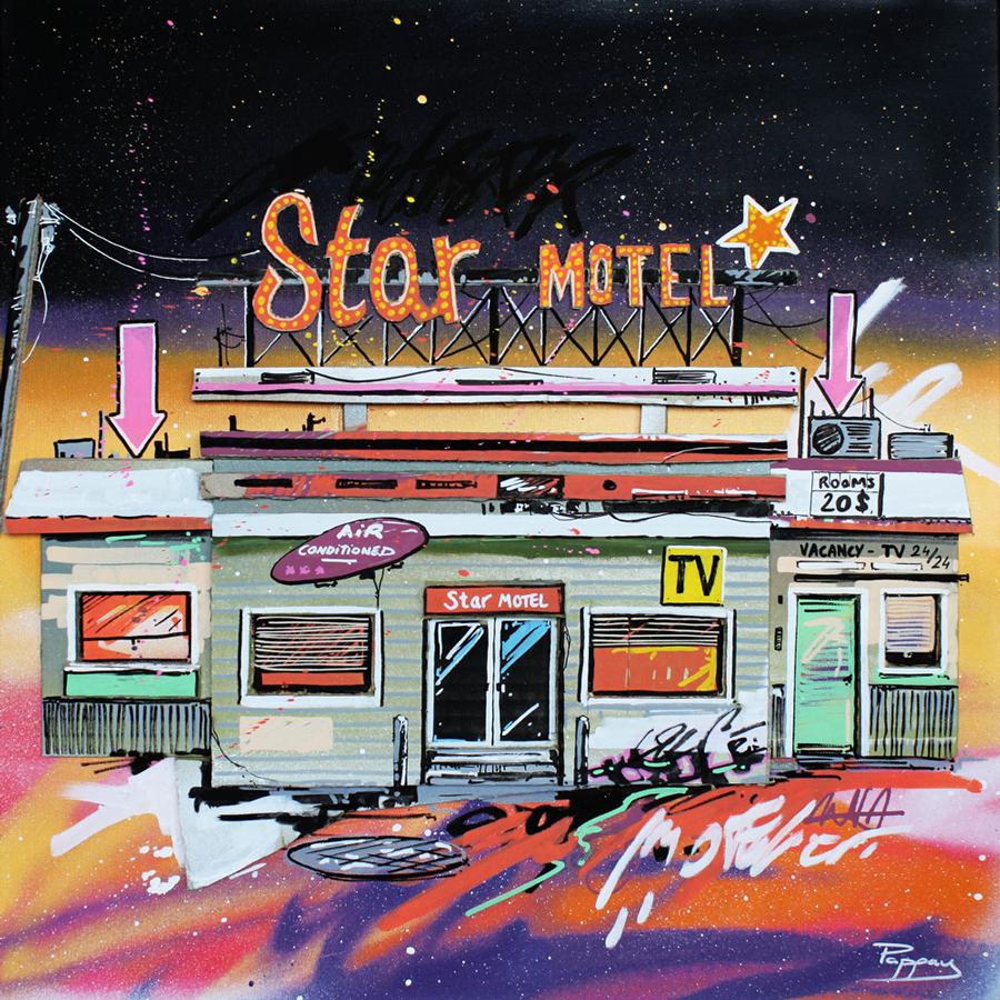 Star-motel - street-art, Pappay artiste français