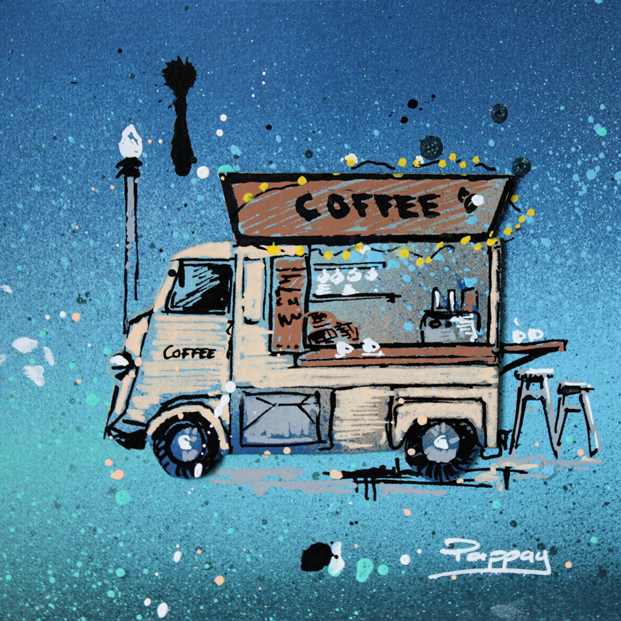 coffee truck - collage et graffiti - Pappay