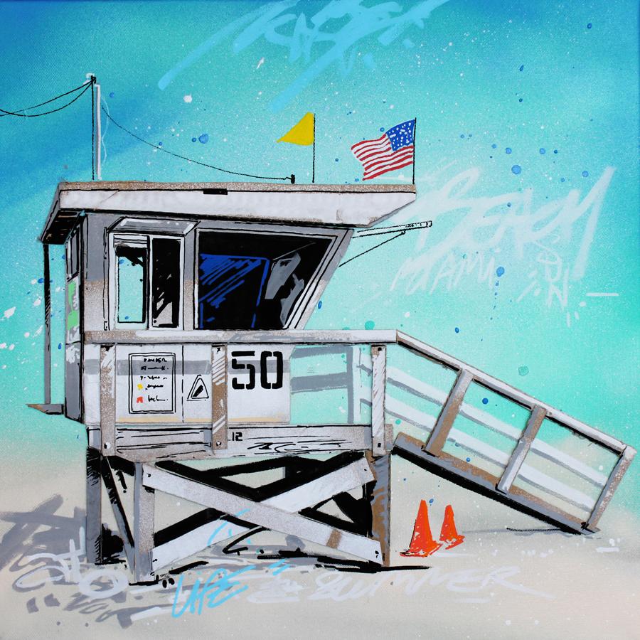 The 50 - cabane de sauveteur à Miami par Pappay