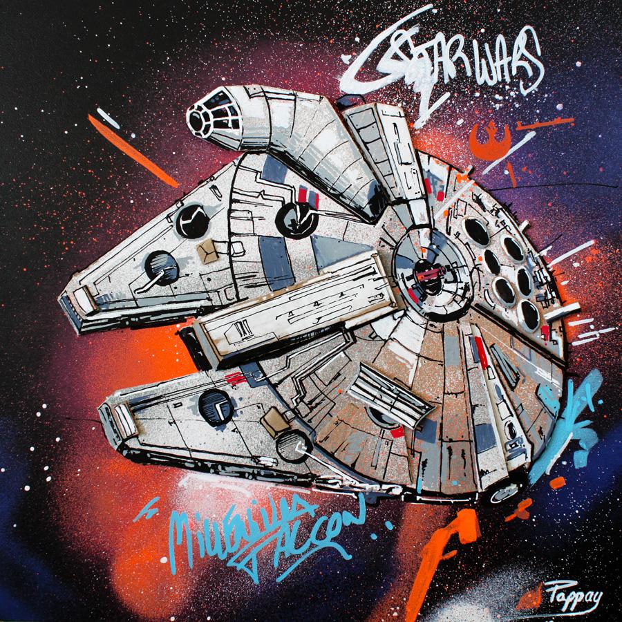 Millenium falcon - pappay - artiste graffeur