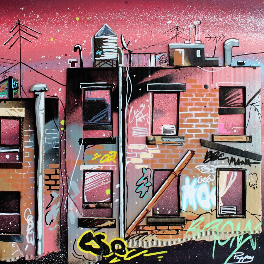 Bronx - technique mixte et graffiti