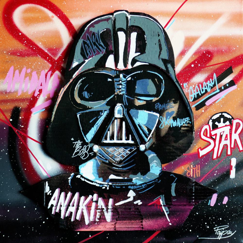Dark Anakin - street artiste Pappay - Aix en Provence